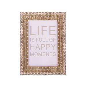 China New rustic ecoration photo family picture frame wooden craft desktop photo frame on sale