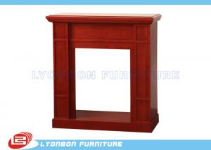 China Modern Red Decorating Fireplace Mantels For Home , Polished Surface on sale