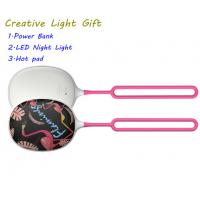 Creative power bank hot pad emergency chargeable night led outdoor light CL101