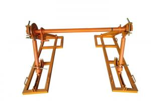 China Integrated Cable Drum Jacks , Cable Reel Jack Stands For Supporting Reel on sale