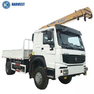China 4t Lifting Capacity Sinotruk LHD 4x4 All Wheel Drive 266hp Truck Mounted Crane on sale