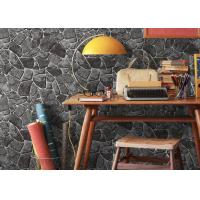 China Stone Printing Chinese Style Washable Vinyl Wallpaper For Interior Room Decoration on sale