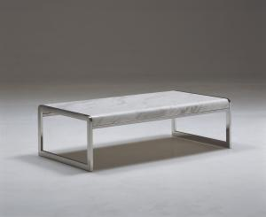 Quality Metal Marble Top Coffee Table Furniture , Elegant Living Room Coffee Tables , White marble tables for sale