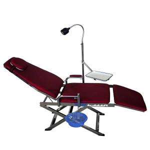China Portable dental chair with full folding (Red) TR-PDC-500R,Cold light uses LED spotlight (3V, 50W) on sale