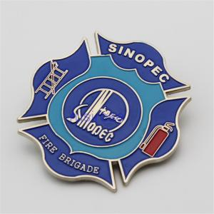 China Fire safety inspection badges are customized, firefighting set up commemorative badges custom, color fire badges on sale