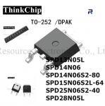 INFINEON n Channel Mosfet Transistor TO-252 SPD13N05L SPD14N06 SPD14N06S2-80 SPD15N06S2L-64