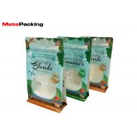 Custom Design Food Packaging Pouches , Side Gusset Flat Bottom Zip Lock Resealable Stand Up Pouches