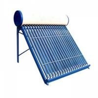 The color steel designed pre-heated direct-plug solar water heater with copper coil in water tank