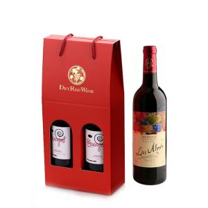 China Paper Cardboard Wine Bottle Packaging Box With Custom Printed Logo on sale