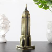 China New York metal crafts Empire state building model souvenir gift table decor on sale