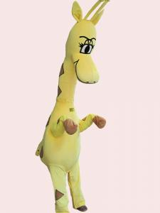 Quality Yellow giraffes mascot cartoon costumes for kids cosplay of custom design for sale