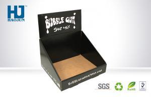 China Strong Custom Counter Display Boxes / Printed Paper Display Box Black on sale