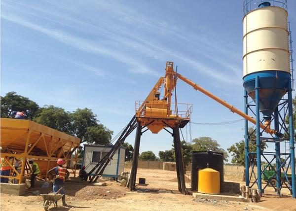 Stationary Concrete Batching Plant With Cement Silos 15 200 M3 Per