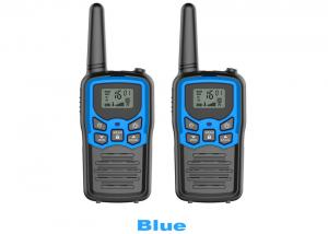 China VOX Hands Free Rechargeable Walkie Talkies Friendly Material Blue / Black Color on sale