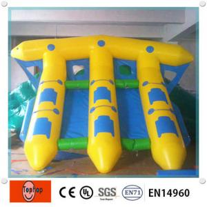China Exciting Inflatable Fishing boat , Fish Banana Boat For Water Sports Games on sale