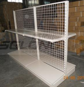 China Light Duty Convenience Store Wire Mesh Shelves Tegometal Gondola Double Sided on sale