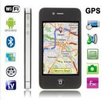 China 3.5inch Dual SIM quad band unlocked Android 2.3 Mobile Phone 4S with WIFI AGPS TV wholesale