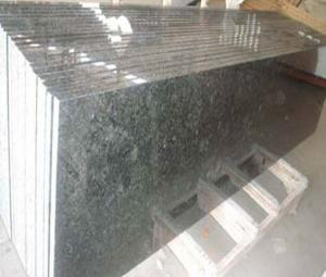 China Rectangular Butterfly green granite counter top on sale