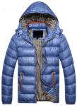 Casual Style Mens Down Parka Jacket , Mens Shiny Puffer Coat Good Thermal Protection