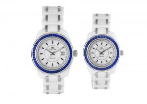 China Water Proof Lover Style White Ceramic Watches, Japan Movt Quartz Watch on sale