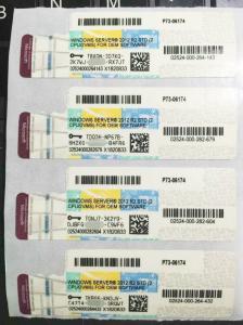 China Microsoft Windows Server 2012 Product Key Sticker With Genuine OEM Key on sale