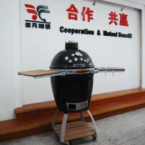 China Environmentally 535mm * 760mm Oval Ceramic Big Green Egg Oven, Charcoal bbq Grills on sale
