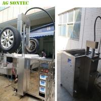 China Ultrasonic Tank Cleaing Machine Parts Washer To Clean Alloy Wheels Prior To Repairing 540L on sale