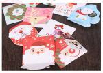 メリー クリスマスの挨拶状のサンタの折り畳み式および印刷できるオオシカのさまざまなパターン