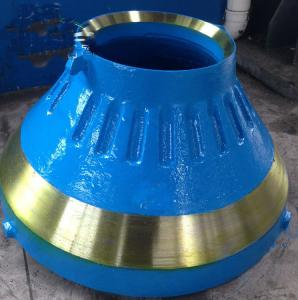 China Cast Iron Metso / Minyu Crusher Parts , Cone Crusher Liners Corrosion Resistence on sale