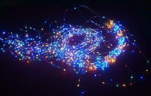 China LED Copper Wire String, Light LED Large Vine Light RGB Silver on sale