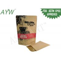 China Durable Biodegradable Stand Up Pouches With Zipper , Resealable Kraft Paper BagsFor Raw Drip Coffee on sale