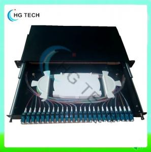 China SF-FPP001 24Port LC Slidable Fiber Optic Patch Panel on sale