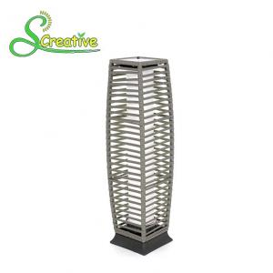 China Garden led light solar rattan landscape tube lamp decorative for night on sale