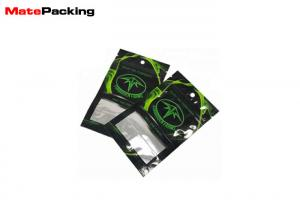 China Heat Sealing Aluminum Foil Stand Up Pouch , Herb Incense Spice Food Grade Pouches With Window on sale