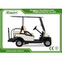 China White Used Electric Golf Carts With Trojan Battery CE Approved 4 Seater 275A on sale