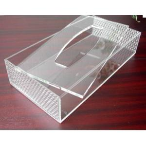 China Hot Sell Red Acrylic Tissue Box for Hotel on sale