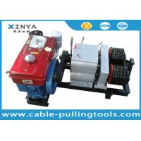 China Double Drum Hoist Winch 5 Ton with Diesel Engine for tower erection on sale
