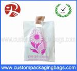 60 Microns LDPE / HDPE Die Cut Handle Plastic Bags Moistureproof With Printing