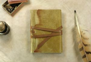 China Yellow Leather Journal, Vintage Style Journal, Notebook, Diary on sale