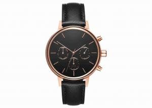 China Black italy leather wrist watch mens fashion stainless steel watch on sale
