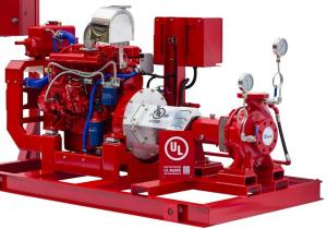 China 500 GPM End Suction Fire Pump , High Strength Diesel Fire Water Pump 116 PSI on sale