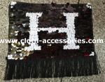 La ropa de la lentejuela de la forma de la franja Appliques los adornos blancos y negros