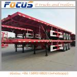 40FT Container / bulk Cargo Flatbed Truck Semi Trailer with FUWA axle