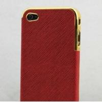 Genuine Leather Back Case for iPhone 4 4S
