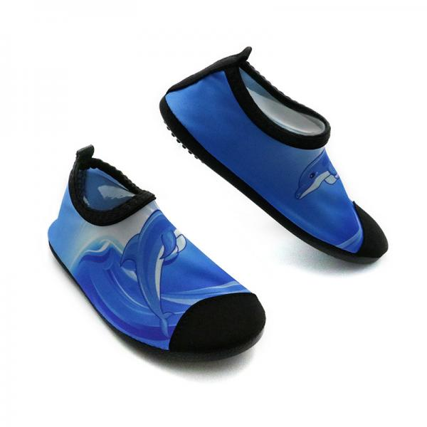 a63250fc0260 Quick Dry Stretchy Aqua Foot Water Shoes For The Ocean Cute Dophin Pattern  Images