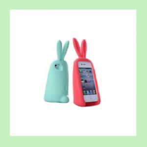 China fashion rabbit silicone iphone case  ,silicone covers for iphone4/4s/5/5s on sale