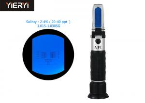 Quality 2-4% Salinity Specific Gravity Refractometer With Non Slip Rubber Materials for sale