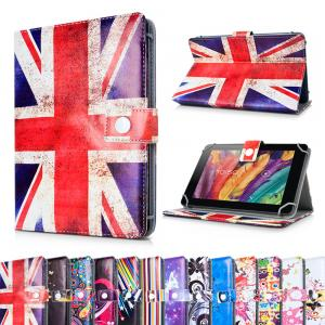 China Personalized Universal Printed PU Leather Skin Stand 7 in Tablet Case / Wallet Cover on sale