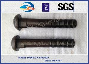 China Grade 8.8 Bridge / Railway Bolt Fish Bolts For Fasten Rail Joints on sale