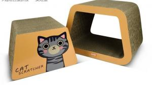 China 100% Harmless Cat Cube Cardboard Abrasion Resistance Textured Scratching Surface on sale